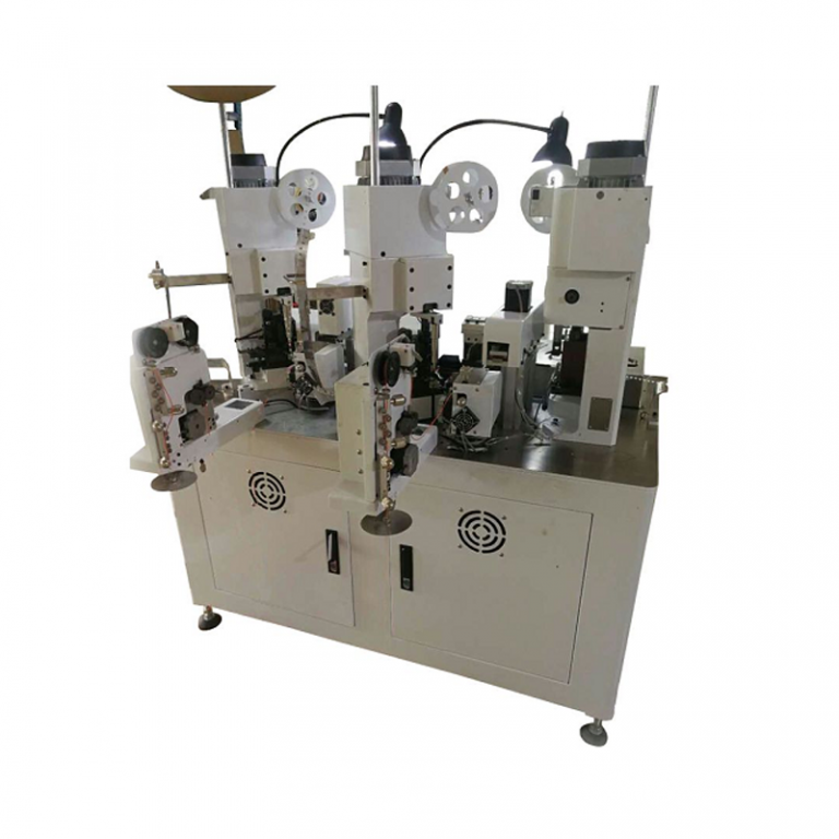 Full automatic triple ends terminal crimping machine