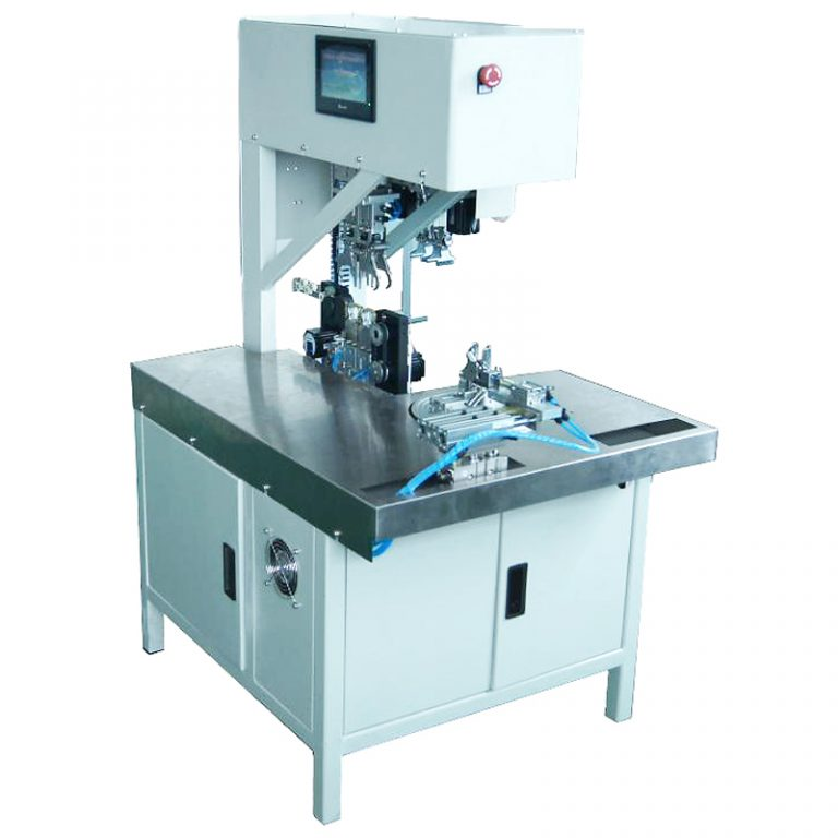 Automatic cable winding and tying machine
