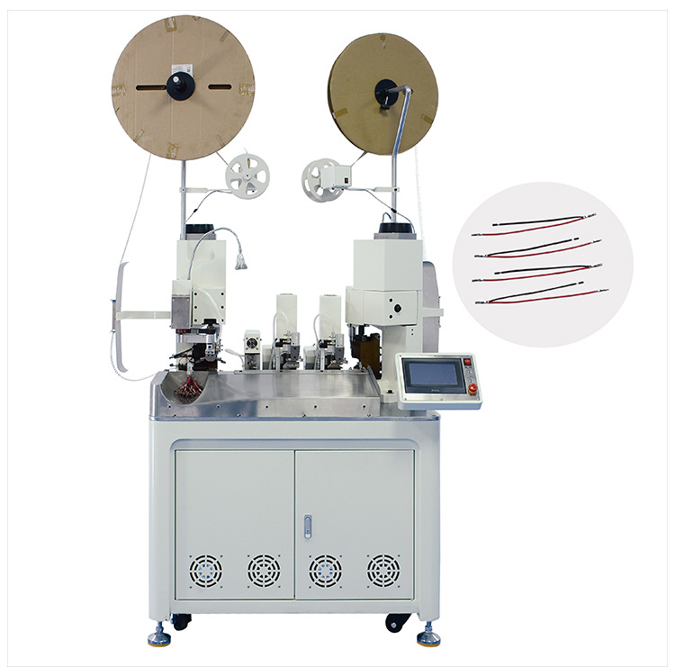 AM205 Automatic two-wire terminal crimping machine & double-ended crimping and stripping wire cutting terminal crimping machine