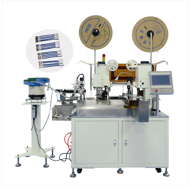 AM212 Fully automatic double-ended crimping insertion Single-ended double-ended plug-in terminal & Single-ended solder tin machine