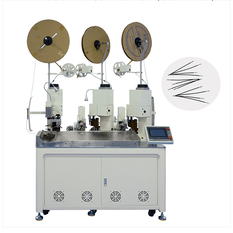 AM205-B Fully automatic triple ends terminal crimping machine(Four wire-thriple-ends)