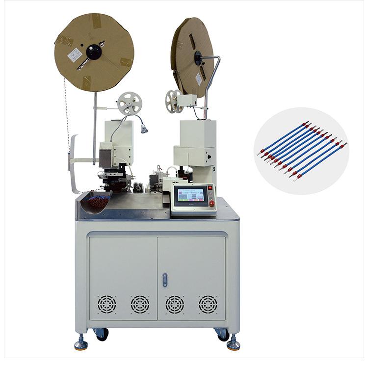 AM213 Automatic double-head pre-insulated tubular terminal & full servo terminal machine