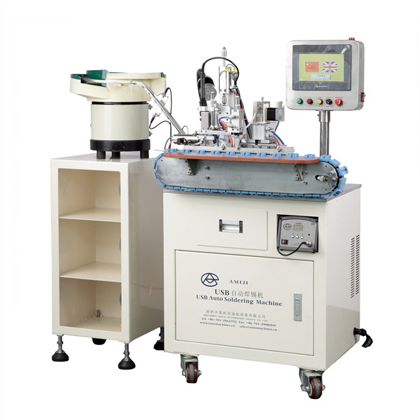 AM121 Aotuomatic USB A Female Cable Soldering Machine